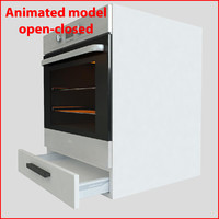 3d model kitchen furnitures 60 cm