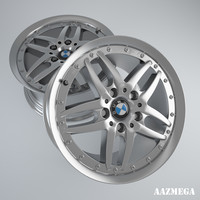 high-poly bmw rim style 3d model