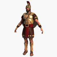 3d model of roman soldier