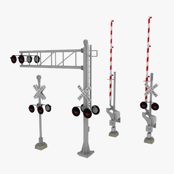 3d Model Railroad Crossings
