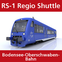 3d model rs-1 regio shuttle passenger train
