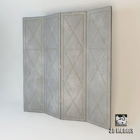 folding screen suede 3d max
