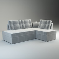 3d model of sofa milana basic
