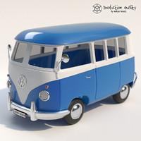 volkswagen toy van 3d max