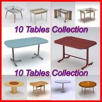3d model of pack tables