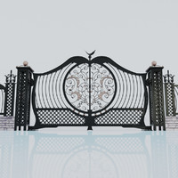 3d model wrought iron gate gate-1