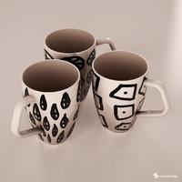 3d model cups