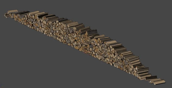 3d wooden logs pile wood model - Wooden Log Pile... by pixelab