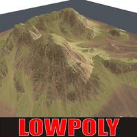 Lowpoly Mountain MtnN19