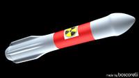 rocket nuclear 3d c4d