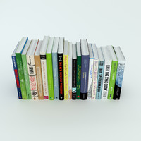 3d row books model
