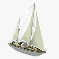 3d model boat sailboat sail