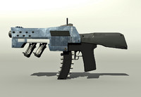 maya scifi rifle