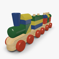 3ds wooden toy train