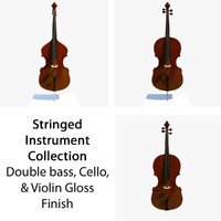 3d glossy musical instruments model
