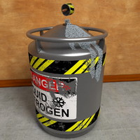 3d liquid nitrogen tank