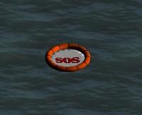 free life raft 3d model