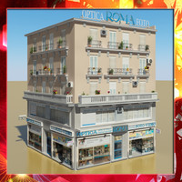 photorealistic building 16 3d 3ds