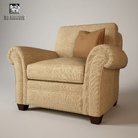 baker club chair 3d