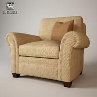 baker club chair 3d