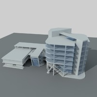 3d office building complex