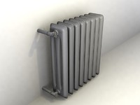 3d cast iron radiator model
