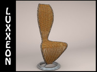 free max model cappellini wicker chair