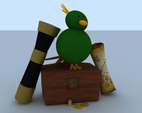 3d model pirate treasure