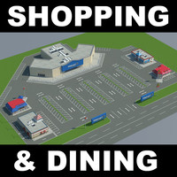 3d model shopping mcdonalds burgerking