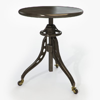 table restoration hardware caliper 3d max