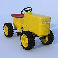 toy tractor 3d lwo
