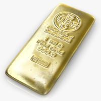 gold bar c4d