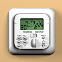 3d room thermostat model