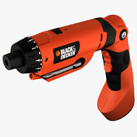 3d model cordless screwdriver black decker