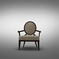 3ds max oval x-back chair