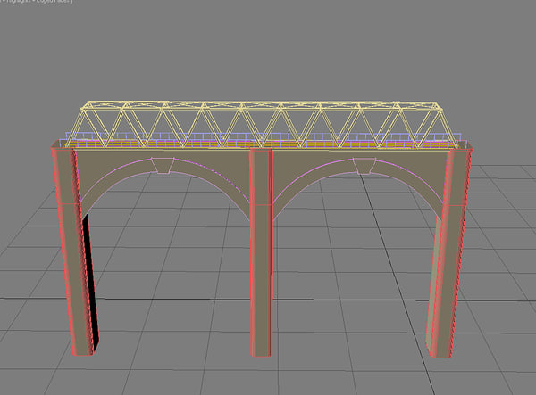 maya bridge train 2011 - Train Bridge Max 2011... by MotionMediaWorkshop