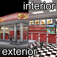 Fast Food Cafe Ext&Int