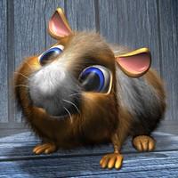 3d cute hamster ged model