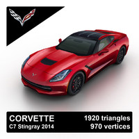 3ds max 2014 corvette stingray c7