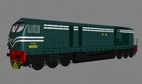 3d model pakistan railway locomotive