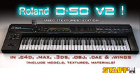 roland d-50 3d model