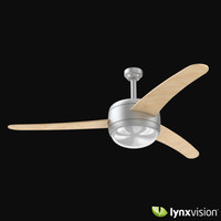 3d model contemporary ceiling fan wooden