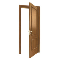 3d model wood wooden door