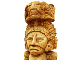 3d model aztec figure replica 2
