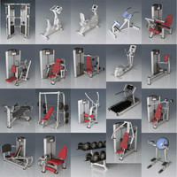 3ds max fitness equipment