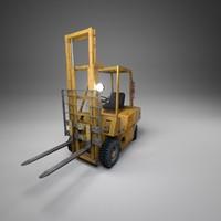 3d model diesel forklift