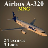 3d airbus mng model