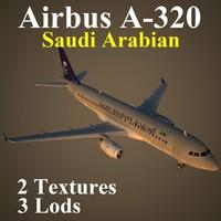 airbus airlines sva 3d model