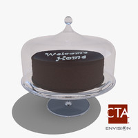 glass cake tray obj