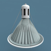3d industrial glass light 02 model